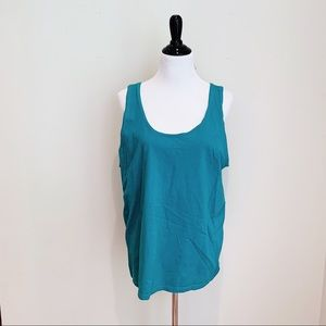Authentic Neon Turquoise 80's Aerobic Workout Tank